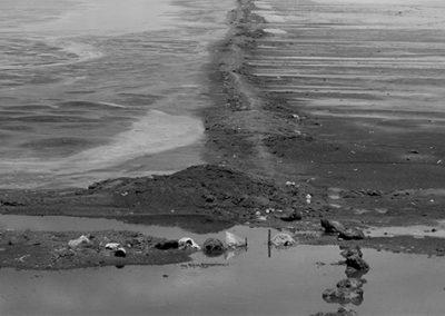 Vista del suelo en Texcoco, 1960