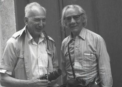 Con André Kertesz en Arles, 1979. Por Colette Urbajtel.