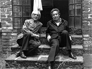 Manuel Álvarez Bravo y Octavio Paz por Colette Urbajtel, México, 1976.